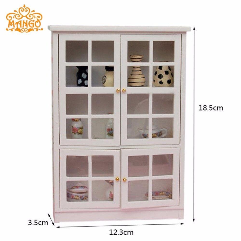1 12 dollhouse miniature furniture kitchen cabinet cupboard display shelf wood free shipping china