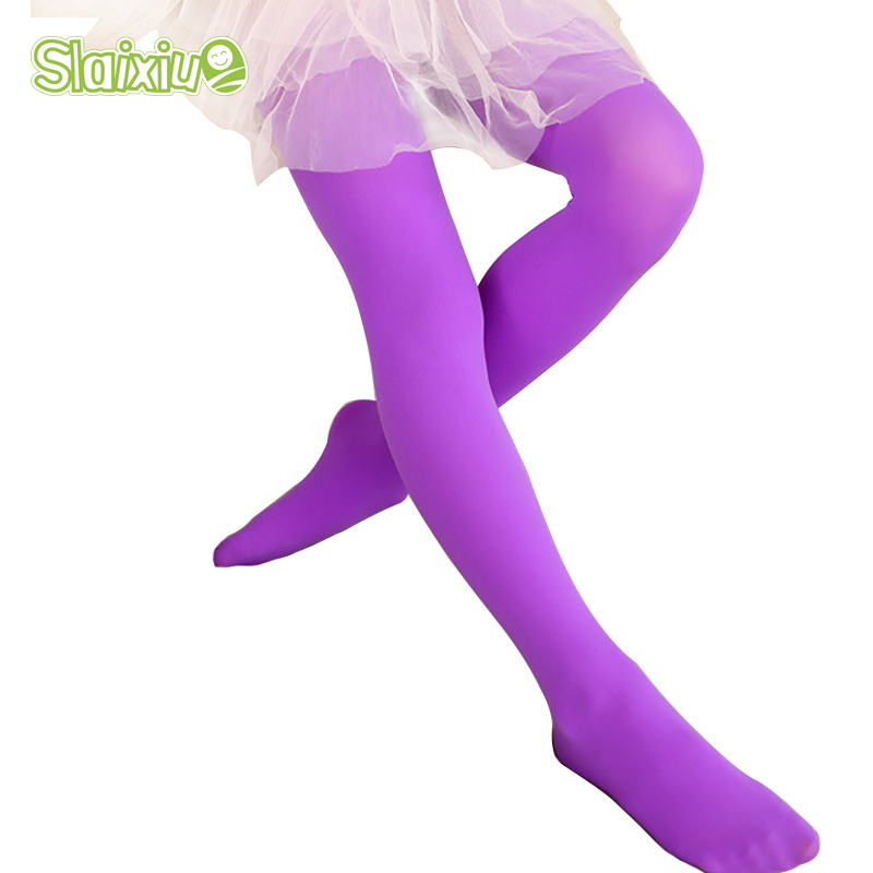 Tights For Girls Candy Solid Color Kids Baby Stockings Cute Velvet Pantyhose Tights  Girls Dance Children Trousers Tights
