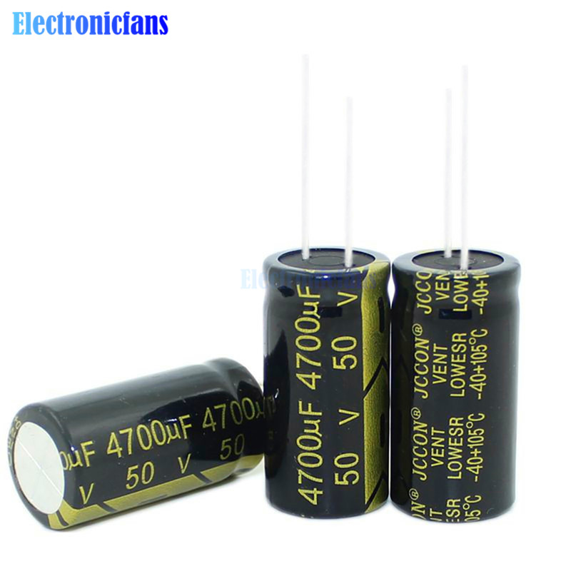 50V 4700uF 18X35mm Aluminum Electrolytic Capacitor High Frequency Low ESR 50V4700uF 18*35mm Through Hole Capacitor