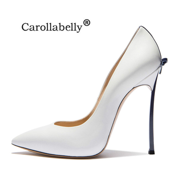 High Quality 2018 New Sexy Women Shoes Bowtie Thin High Heels Woman heels Wedding Shoes Pumps Party Shoes