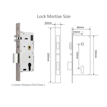 Smart Door Lock Digital Touch Screen Password+RFID Card+Key 3 way Access Control Keyless L17017SS