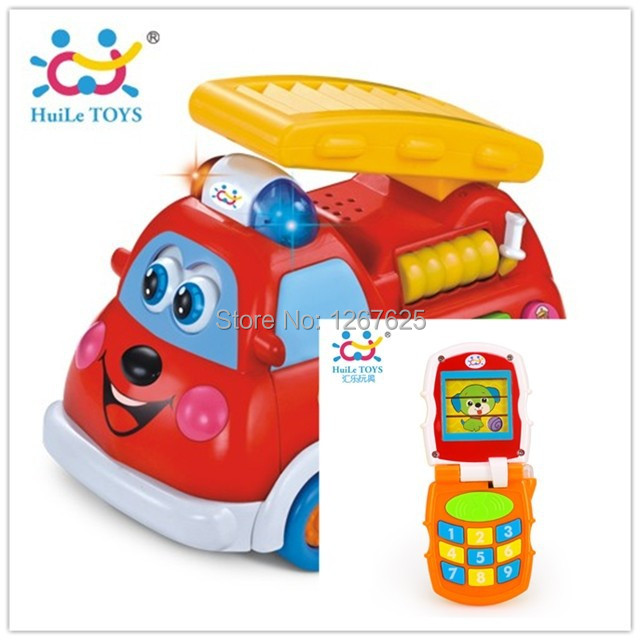 Eletronicos Fire Truck Baby Toys Infantis Educativos Music Mobile Brinquedos Bebe Free Shipping Huile Toys 526 & 766