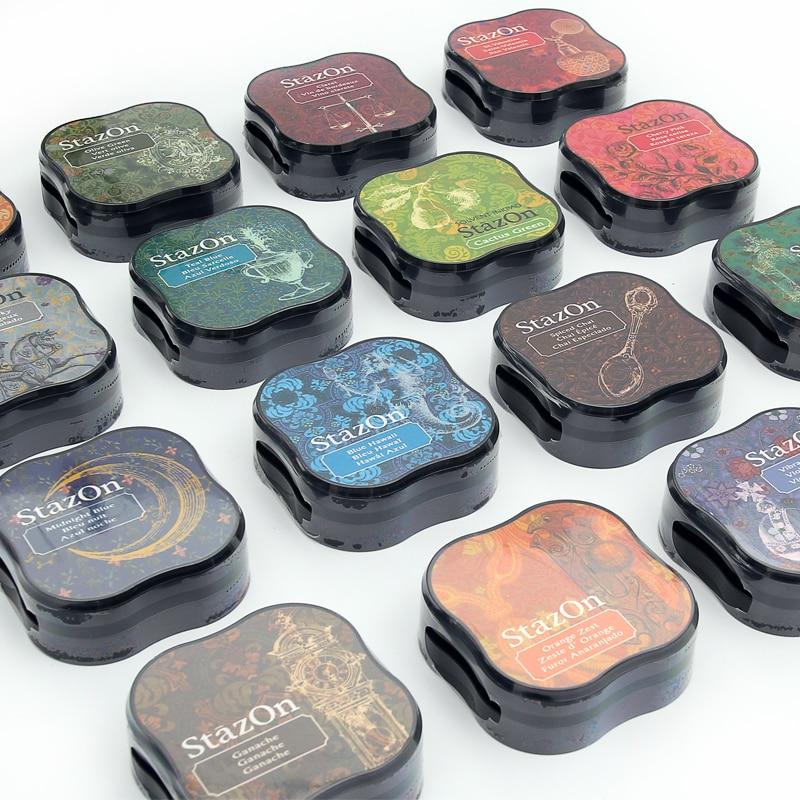 1 шт. японский креативный Tsukineko stazon цветной inkpad планировщик для скрапбукинга силиконовый штамп DIY Поставки