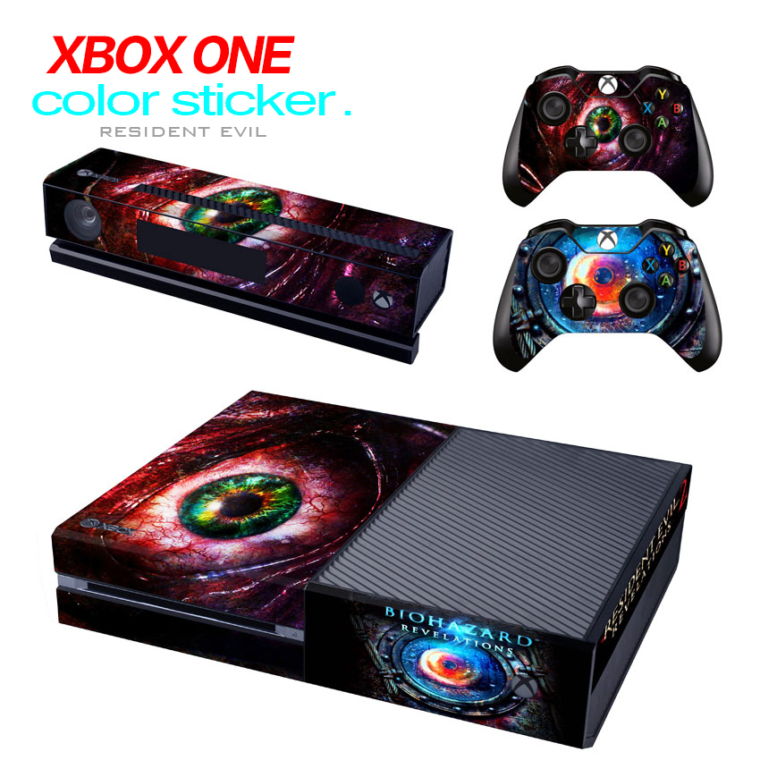 Game accessories Skin Sticker Protector for Microsoft Xbox One Console and 2 Controllers & Kinect skins Stickers for XBOXONE