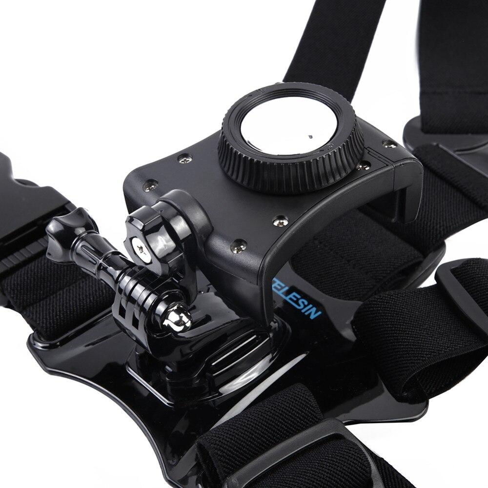TELESIN Léger D'action Caméra Mobile Téléphone Réglable Sangle De Poitrine Harnais Mount Kit Nouveau 2018