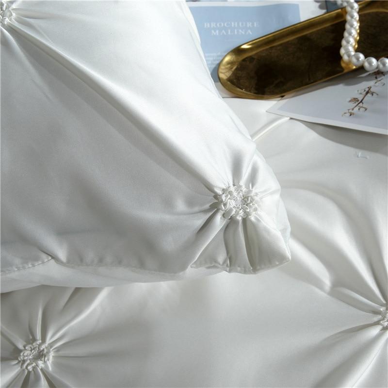 Image 5 - LOVINSUNSHINE Duvet Cover Set Luxury Us King Size Silk Duvet Cover Set Duvet Cover Satin Queen Size AC01#-in Bedding Sets from Home & Garden