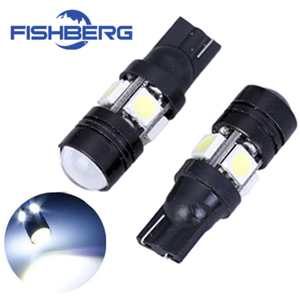 2pcs/lot T10 LED W5W Light Bulbs 5050 SMD  Lens 4 LED 12V Parking 194 168 Xenon White Red Blue Green Yellow Wedge FISHBERG deechooll 2pcs wedge light for mazda 2 3 5 6 mx5 rx8 cx7 626 gf gg ge gw canbus t10 57smd 6w led clearance xenon lighting bulbs