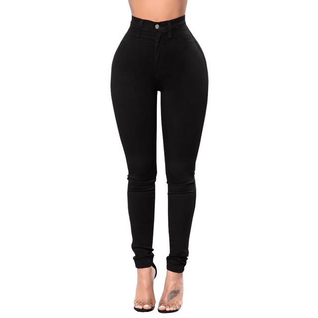 CHAMSGEND 2019 Women s Jeans Black High Waist Wash Jeans Sexy Skinny Slim Fitness Pants Trousers