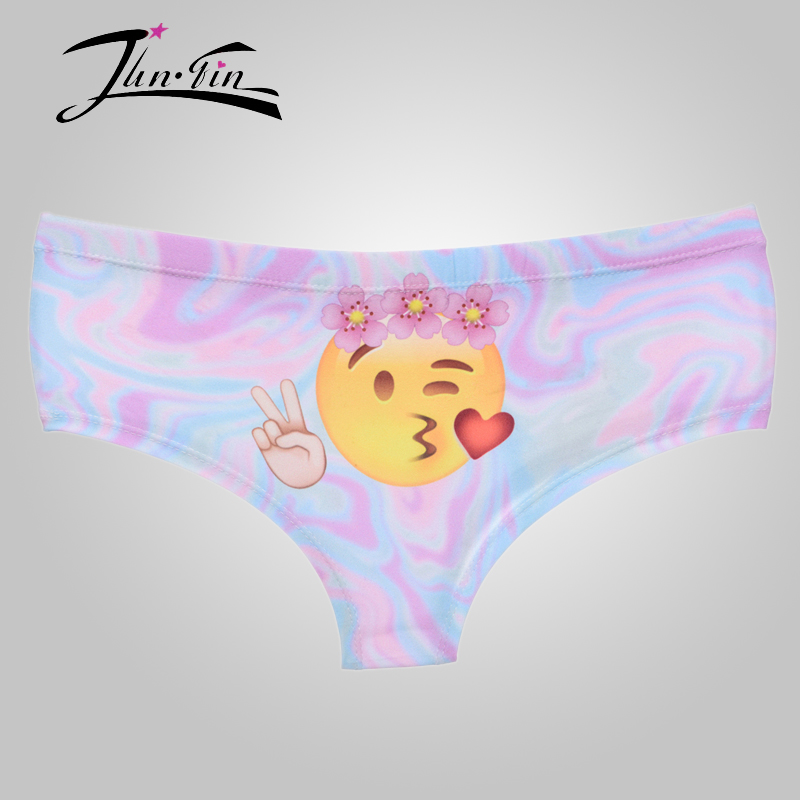 sexy panites New 3D Print emoji peace women Underwear femme sexy briefs panty lingerie