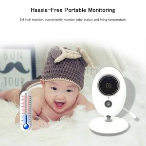 Image 3 - Baby Monitor Wireless LCD Audio Video Radio tata musica citofono IR 24h videocamera portatile Baby Walkie Talkie bambinetta VB605