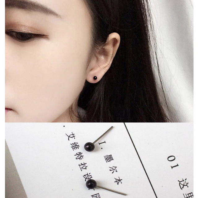 2017 New Fashion Jewelry Simple Earrings Small Beads Anti Allergic Smell Pea Gentle Whole