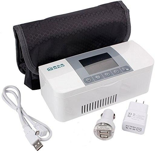 Home forniture sanitarie, micro frigorifero medico, insulina/vaccino/interferone memorizzazione ovunque in qualsiasi momento, dispositivo di raffreddamento portatile