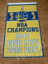 Free shipping 3X5FT NBA 2016-2017 Golden State Warriors Champion Flag banner 100D Polyester