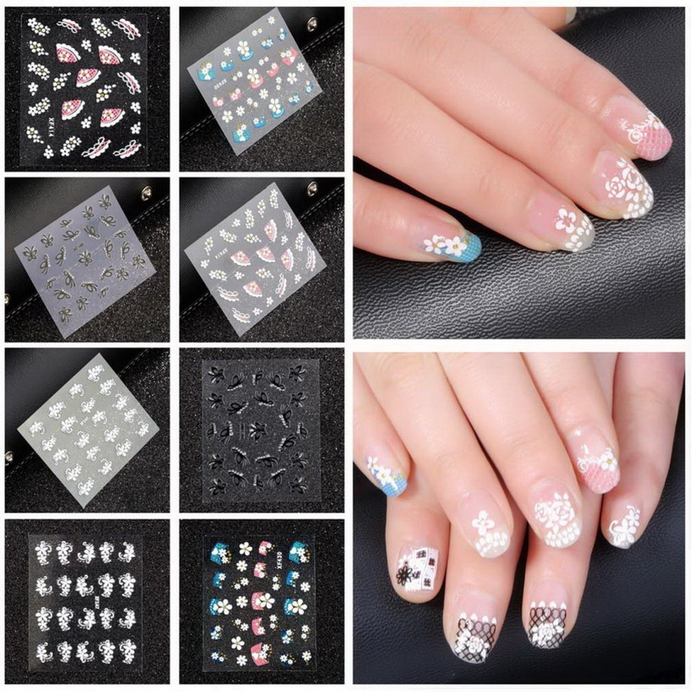 10Pcs Nail Stickers Animal Series Water Decal Ocean Cat Plant Pattern 3D Manicure Sticker Nail Art Decoration nail sticker water transfer decal full cover black bow tie kiss bird butterfly cartoon cat lavender ru079 084