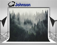 pine tree Misty Landscape Fir Forest Hipster Vintage Retro backdrops Vinyl cloth High quality Computer print wall background