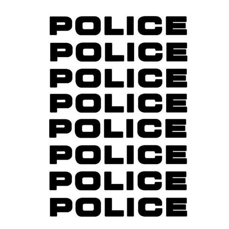 16*2.5CM 8PCS POLICE Reflective Car Stickers Decals Motorcycle Decorative Personality Car Styling Black/Silver C1-0151 стоимость