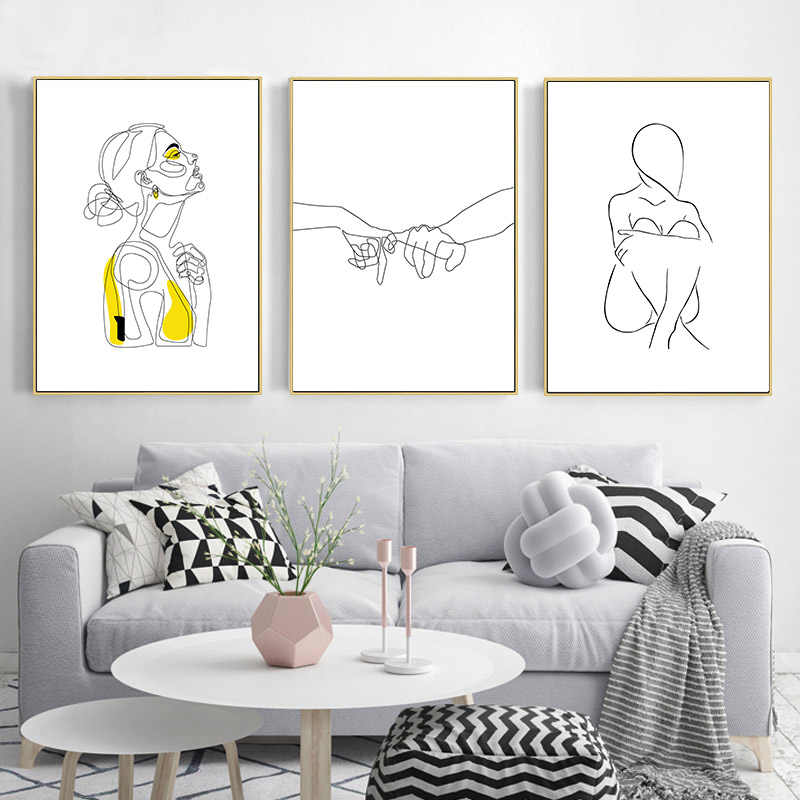 Line Drawing Abstract Poster Minimalist Canvas Wall Art Print Simple Painting Nordic Decoration Picture Modern Living Room Decor