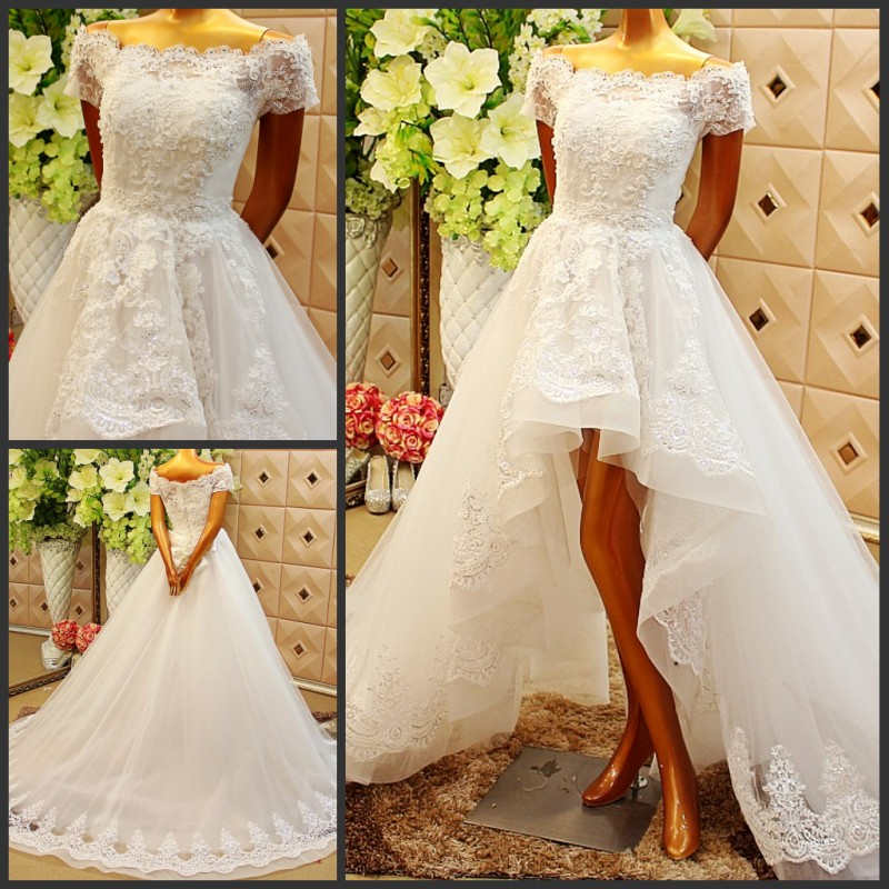 Crystal Big Train Wedding DressES Bride Real Wedding Dress
