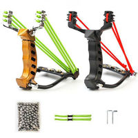 Hot Sale 2 Rubber Bands Professional Alloy Outdoor Adult Hunting Slingshot With 200pcs Steel Balls And