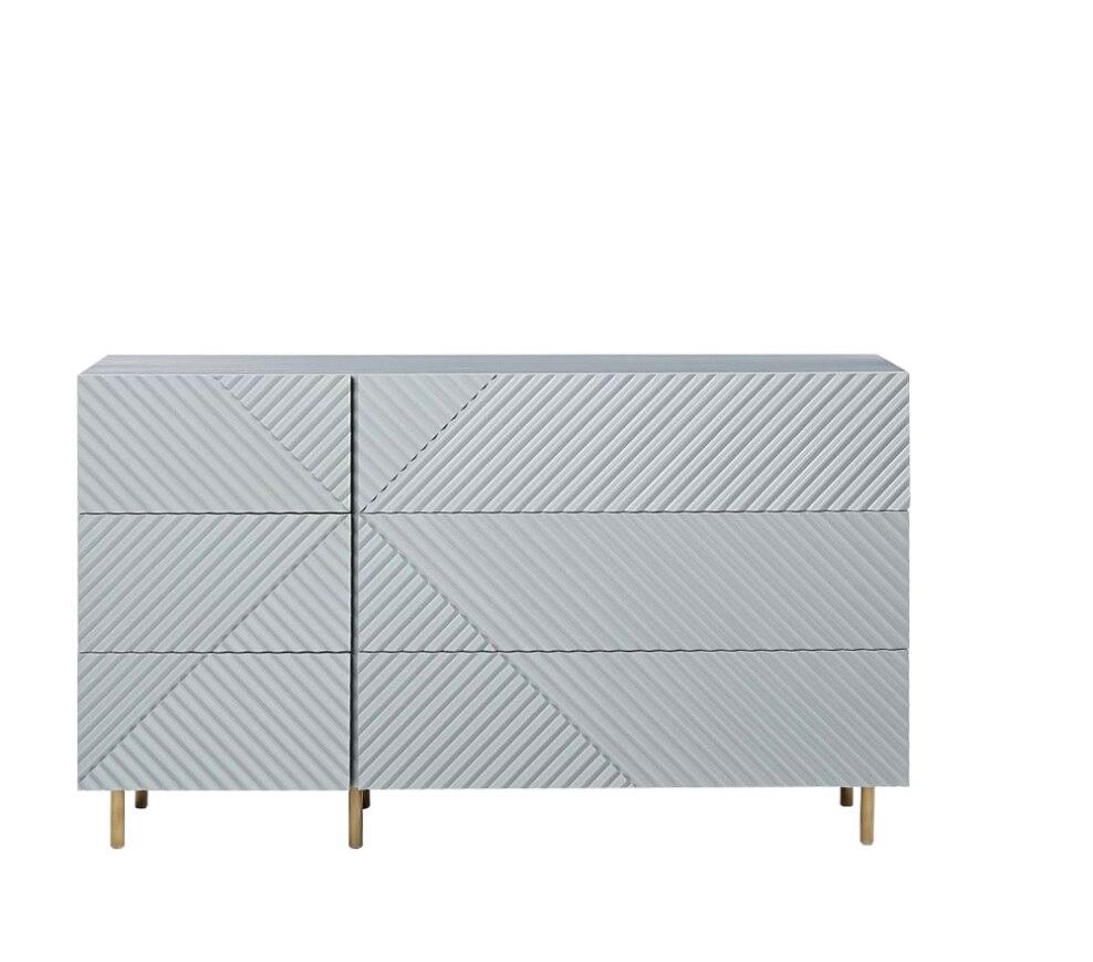 Commode de 145 cm de Long x 85 cm de haut 6 tiroirs/finition laquée