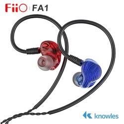 Fiio FA1 Knowles ED-33357 Single Balanced Armature Driver HiFi In-ear Earphone Monitor with Detachable MMCX cable DLP 3D printed