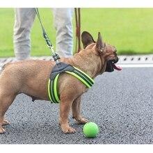Нейлоновый отражающий ошейник для собак жилет сетки Воздухопроницаемый жгут безопасность питомца жилет для собак ночной прогулки обучение для маленьких собак Z