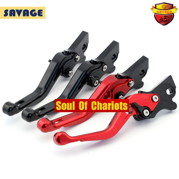 ФОТО Motorcycle CNC Billet Aluminum Left & Right Brake Levers For Piaggio 150 Liderty / 125 Liberty Delivery / MOC 50 Red/Black