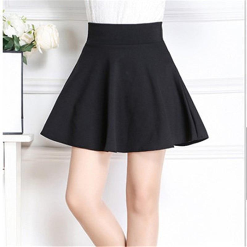 2018  Sexy Girl Mini Short Skirts Brand Women Skirt Elastic  Ladies Midi Skirts Feminina  Spring Summer Autumn And Winter Style