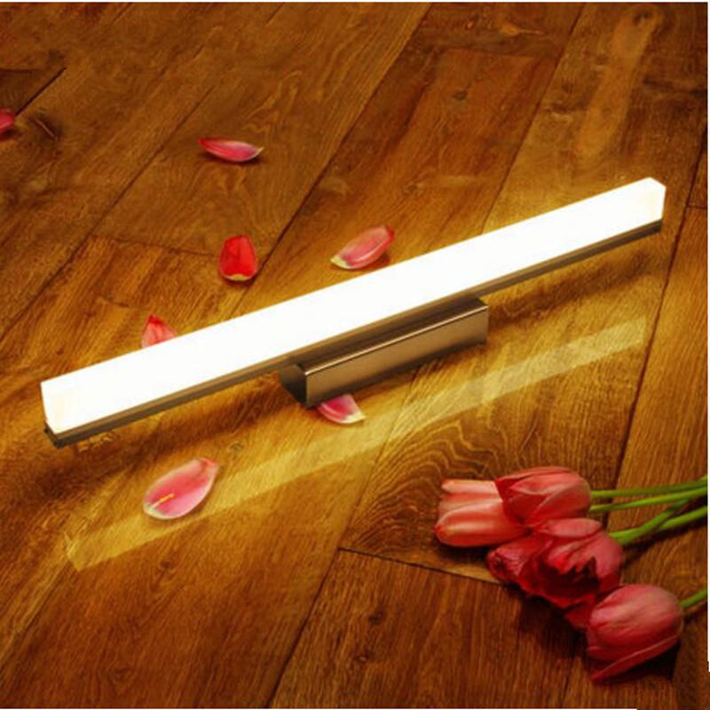 Modern Acrylic LED mirror front lamp Waterproof rustwall contemporary Bathroom decoration wall Light AC110-265V light fixture ...