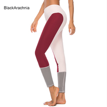 BlackArachnia Women Yoga Leggings Polyester Gym Sexy Ladies 2019 Fitness Pants Sports Patchwork Wear High Waist Leggins