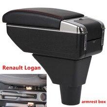 Для Renault Logan подлокотник коробка центральный магазин содержание хранения подлокотник коробка с подстаканником пепельница интерфейс USB 2017