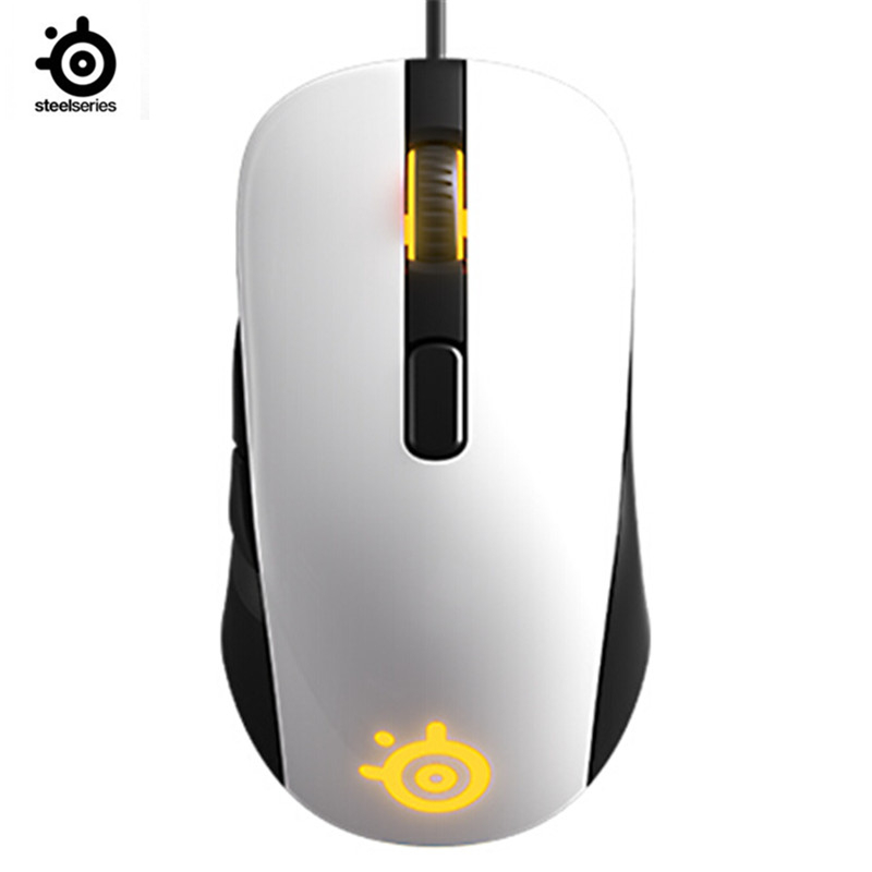 SteelSeries RIVAL106 / SENSEI RAW Optical V2 Game Mouse Wired Mouse Mirror RGB Back Photoelectric Gaming Mouse For LOL CF