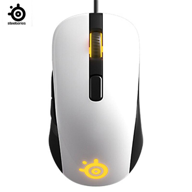 SteelSeries RIVAL106 espelho RGB back fotoelétrico rato jogo com fio do mouse jogo do rato para LOL CF