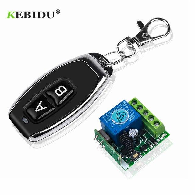 KEBIDU 433 Mhz العالمي لاسلكي للتحكم عن بعد التبديل 12 فولت 1CH التتابع وحدة الاستقبال RF الارسال 433 Mhz التحكم عن بعد