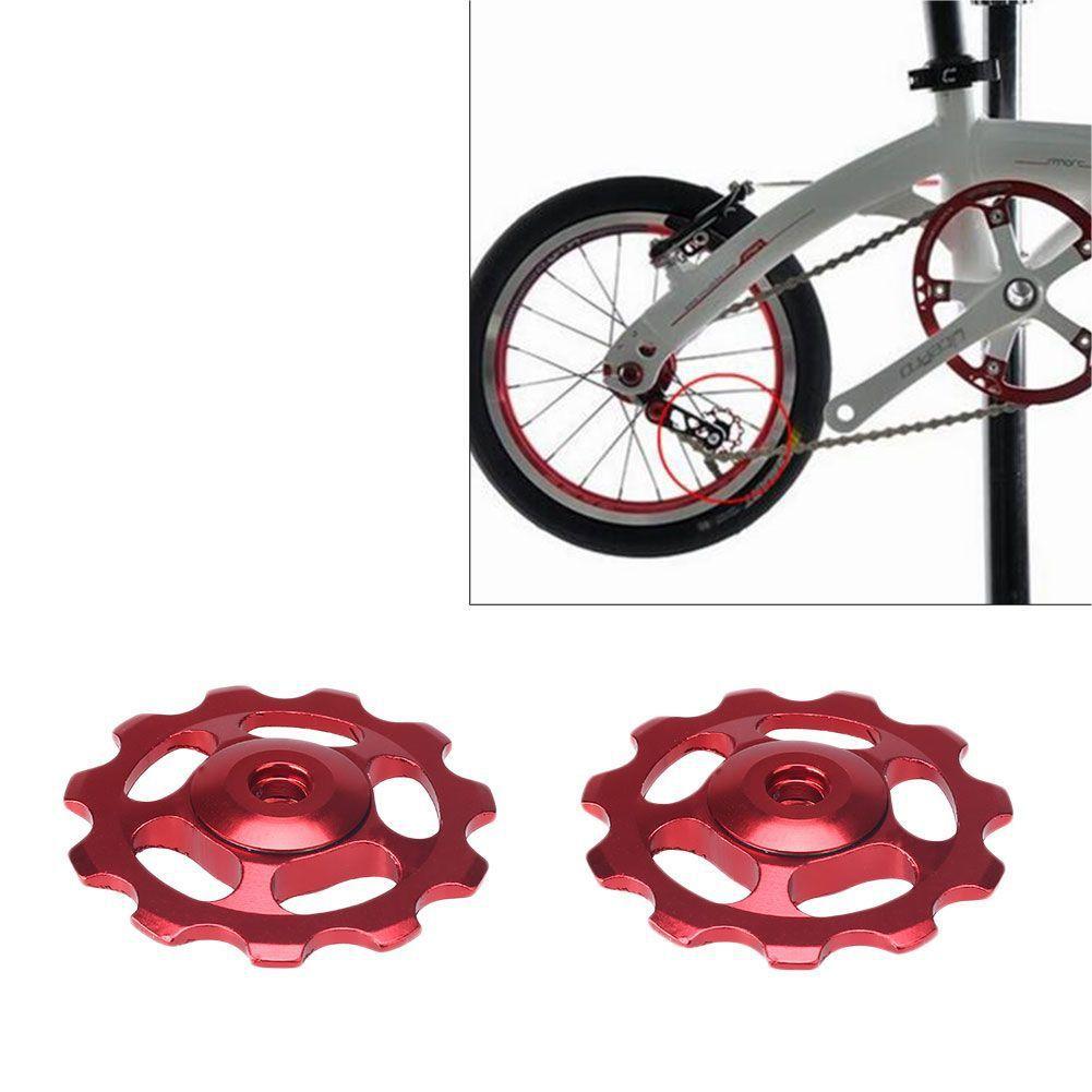 2 x 11T MTB Aluminum RS Bearing Rear Derailleur Jockey Pulley Wheels For Shimano