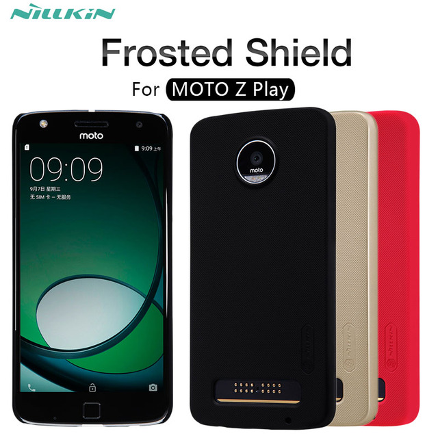quality design b8aa4 d203b For MOTO Z play case NILLKIN Super Frosted Shield matte hard back cover  case For Motorola MOTO Z PLAY XT1635 03 phone cases-in Half-wrapped Case  from ...