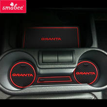 For Lada Kalina GRANTA Accessories,3D Rubber Car Mat Car Anti Slip Mat, Non-slip Mats Interior Door Pad/Cup Mat(China)