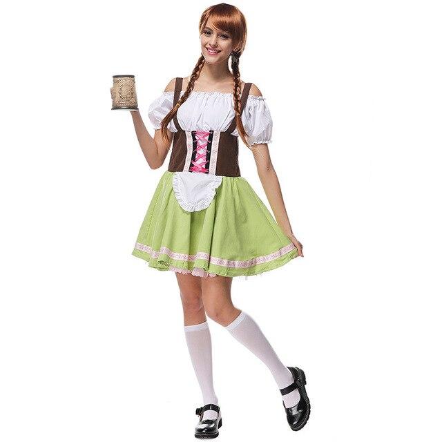 Oktoberfest mujer traje Festival de la cerveza alemana Oktoberfest dirndl  Maid Lolita falda Fancy vestido J15 bd448c3d155
