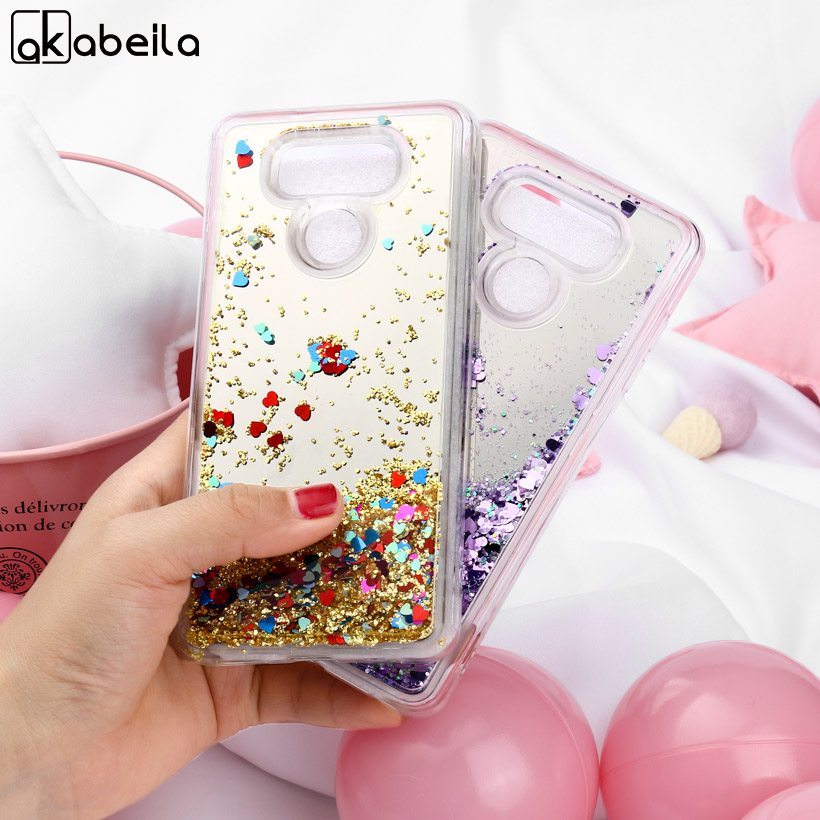 AKABEILA Silicone Cases  For LG G6 Case Glitter Liquid Quicksand Mirror For LG G6 Bag Patterned  Shells New Fashion Phone Cover