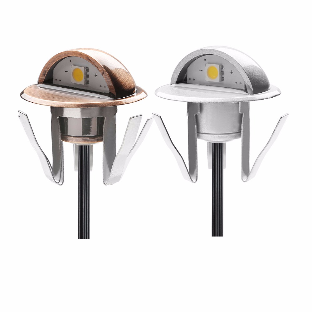 Half-moon SMD5050 LED Stair Lights Low Voltage Outdoor Recessed Landscape Pathway Step Stair Lamps B106