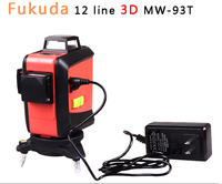 Fukuda 12Lines 3D 93T Laser Level Self Leveling 360 Horizontal And Vertical Cross Super Powerful Red