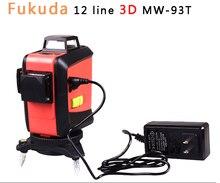 Fukuda 12 linien MW-93T lithium-batterie green laser level 360 Vertikale Und Horizontale selbstnivellierung Cross Line 3D Laser ebene