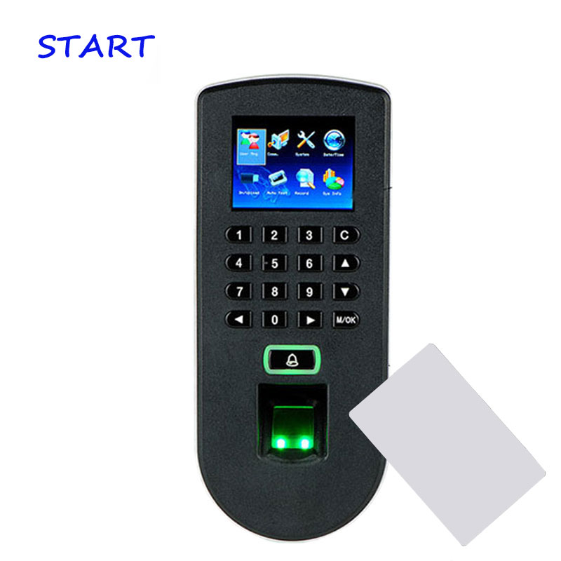 ZK TF1900 RFID Card Fingerprint Access Control System Biometric Fingerprint Time Attendance Terminal Door Control