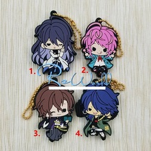 4pcs/lot HypnosisMic -Division Rap Battle DRB Original Japanese anime figure rubber mobile phone charms/key chain/strap