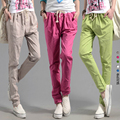 2016 Better Updated Linen FREE shipping linen pants elastic waist wide leg pants casual pants top straight pants loose trousers