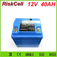 Free customs taxes and shipping storage battery lifepo4 lithium battery 12v 40ah for UPS, Solar system, security system