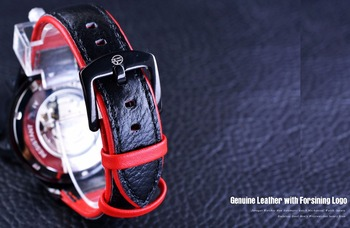 FORSINING Men's Transparent Design Genuine Waterproof Skeleton Automatic Watches 4