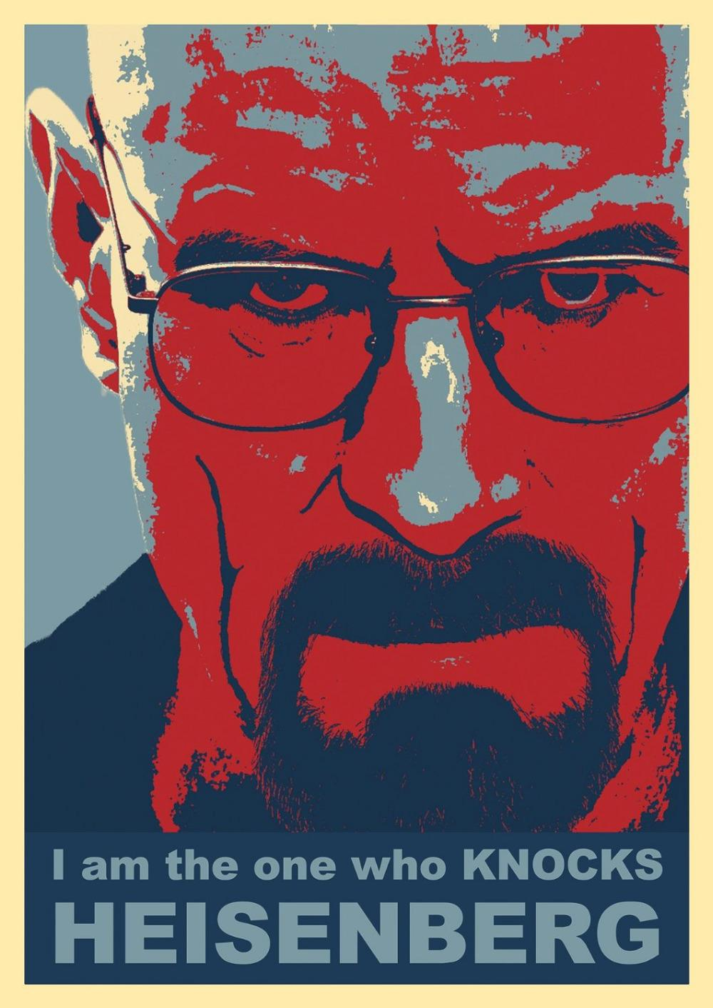 Custom Your Favourite Photos Posters I Am the One Who Knocks Heisenberg 27x40cm Living Room Poster Birthday Gift