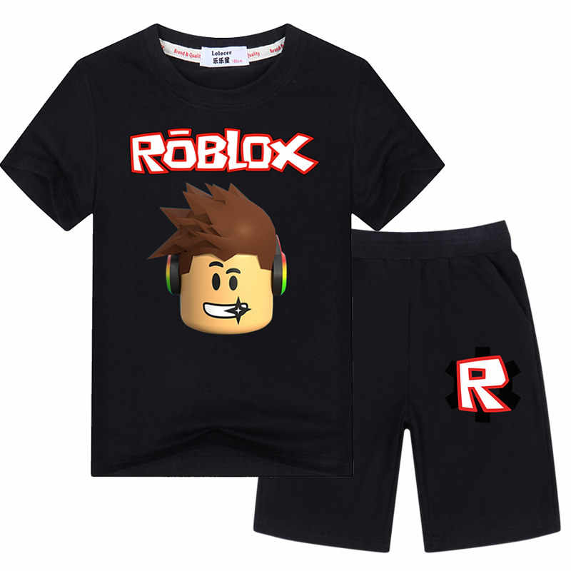 37dfcca142db Big Boys Character Tshirts Sets Graphic Tees Shorts Kids Summer 100% Cotton  Sets Roblox Games