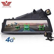 ANSTAR ADAS Автомобильный видеорегистратор Камера 4G Android видеорегистратор Двойной объектив Bluetooth wifi FHD 1080 p gps навигатор Автомобильное зеркало заднего вида видеорегистраторы